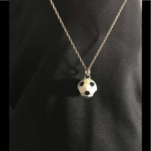 Silver soccer ball for sale